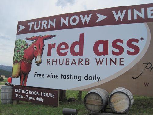 Red ass wine