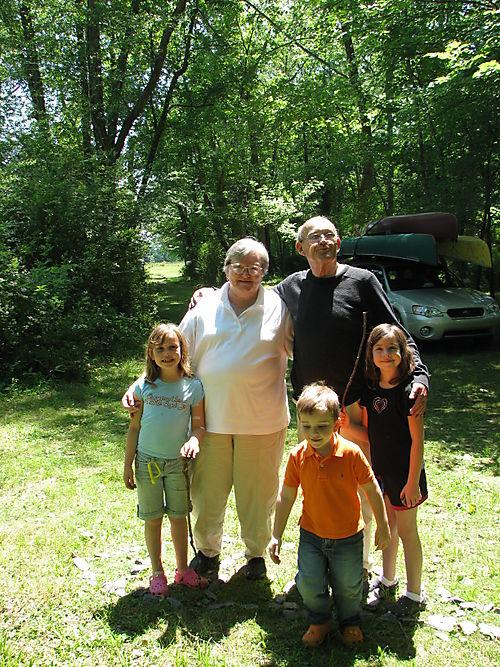 Grandma, Papa and the kids